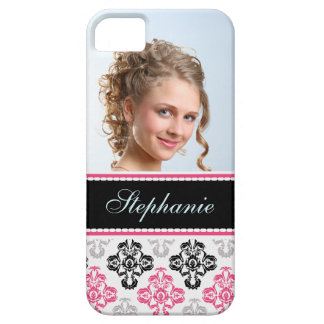 Photo damas pink black  gray label iPhone 5 cover