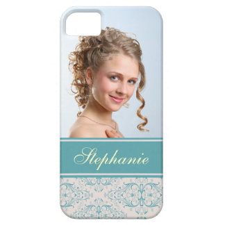 Photo damask green gray label case for the iPhone 5