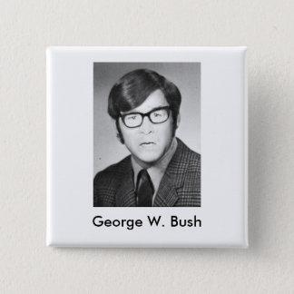 Photo d'annuaire de George W. Bush Macaron Carré 5 Cm