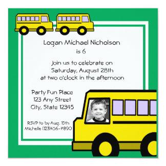 Photo d'autobus d'école faire-parts