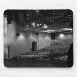 Photo de blanc de noir d'étape de théâtre tapis de souris