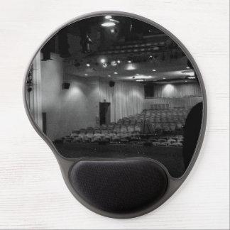 Photo de blanc de noir d'étape de théâtre tapis de souris en gel