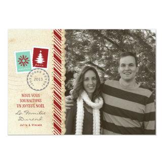 Photo de Carte de Noël Vintage Carton D'invitation 12,7 Cm X 17,78 Cm