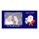 Photo de cartes de Père Noël et de Manchot le père Photocarte Customisée