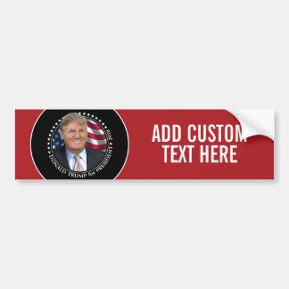 Photo de Donald Trump - président 2016 Autocollant De Voiture