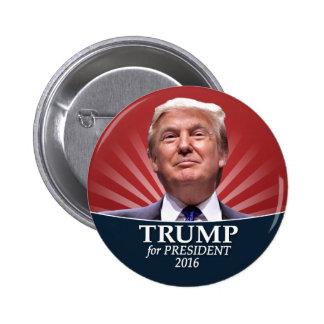 Photo de Donald Trump - président 2016 Macaron Rond 5 Cm