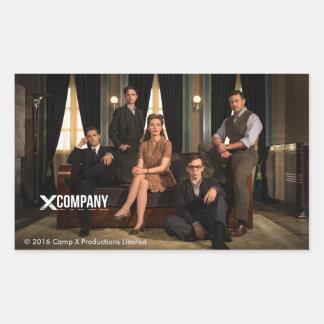 Photo de fonte de X Company Sticker Rectangulaire
