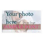 Photo de PixDezines do-it-yourself+polices Carte De Visite Standard