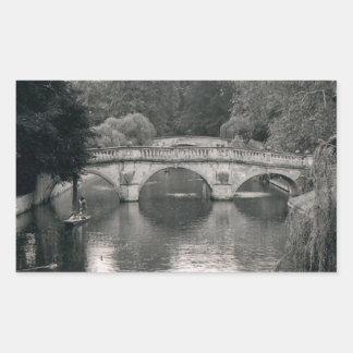 Photo de rivière de Cambridge Autocollant Rectangulaire