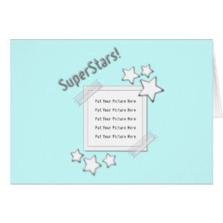Photo de superstars carte de vœux