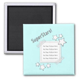Photo de superstars magnet carré