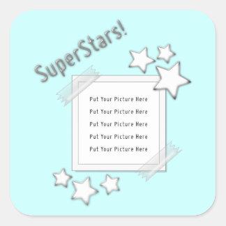 Photo de superstars sticker carré