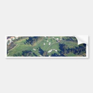 Photo de terrain de golf autocollant de voiture