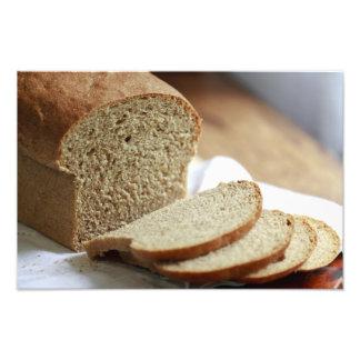 Photo découpée en tranches de pain