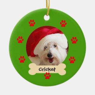 Photo Dog Christmas Ornament