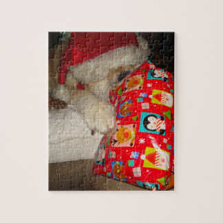 photo drôle de cadeau de Noël de casquette d'akita Puzzle