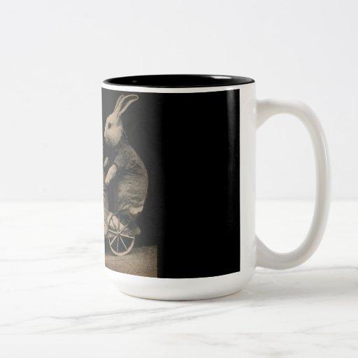 Photo drôle vintage de chaton et de lapin mugs