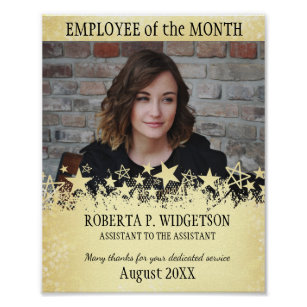 Photo Employee Of The Month ROCK STAR GOLD Poster