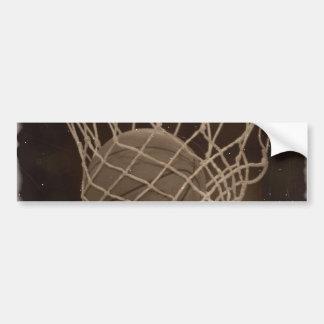 Photo endommagée de basket-ball autocollant de voiture