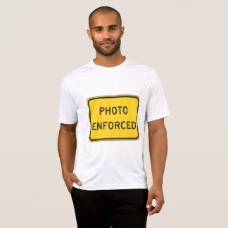 Photo Enforced Sign Mens Active Tee