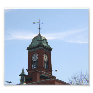 Photo Enlargement - clock tower with weather vane