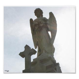 Photo Enlargement - Stone Angel and Cross