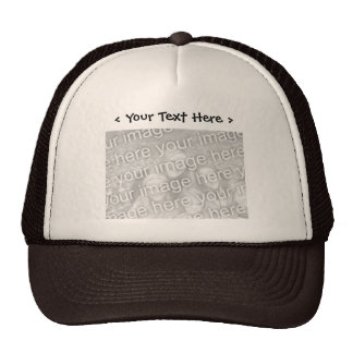 Photo faite sur commande avec le chapeau des texte casquette de camionneur