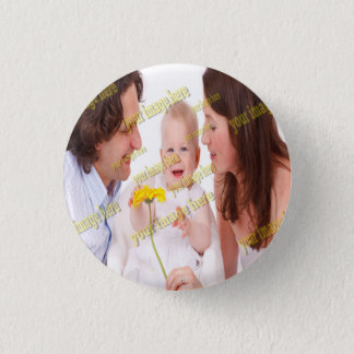 Photo Family Budget Template 1 Inch Round Button