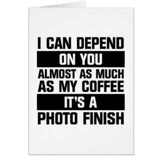 Photo Finish Card