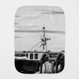 photo fishing vessel burp cloth