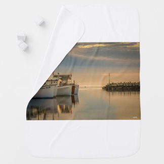 photo fishing vessels baby blanket