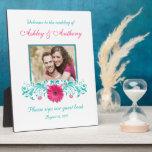 Photo florale de mariage de Gerbera de turquoise r Impressions Sur Plaque