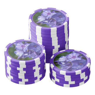 photo flower purple poker chips