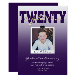 PHOTO FRAME and CHOOSE YOUR COLOR Graduation Card