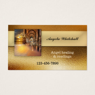 Photo Frosted Gold Professional Business Card