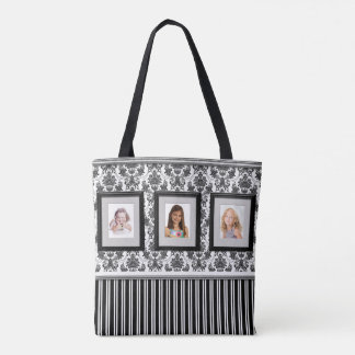 Photo Gallery Tote with Black and White Background