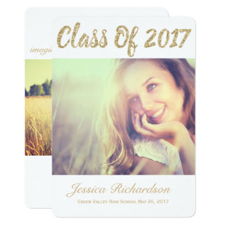 Photo Gold 2017 Photo Graduation Announcement