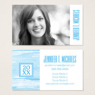 Photo Graduation | Abstract Blue Texture Business Card