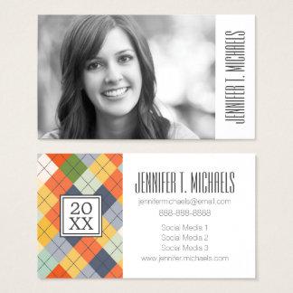 Photo Graduation | Argyle Sweater Business Card