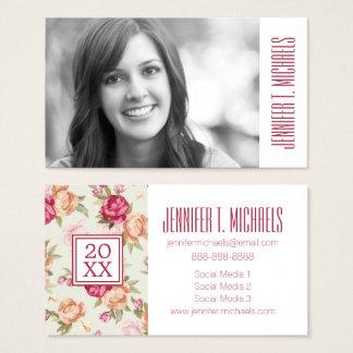 Photo Graduation | Beautiful Peonies Business Card