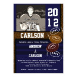 Photo Graduation/ Football 5x7 Paper Invitation Card