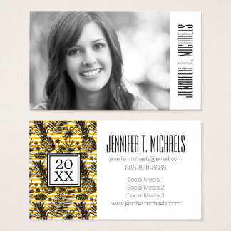 Photo Graduation | Hand Drawn Pineapples Business Card