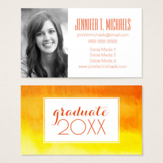 Photo Graduation | Hand Painted Watercolor Business Card
