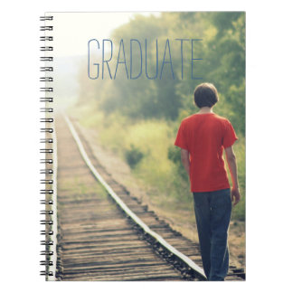 Photo Graduation High School Graduate Modern Blue Notebook