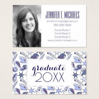 Photo Graduation | Lavendar Seashells Business Card