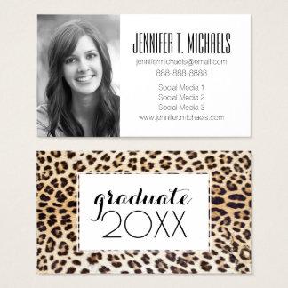 Photo Graduation | Leopard Hair Business Card