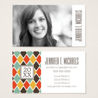 Photo Graduation | Modern Tribal Ikat Business Card