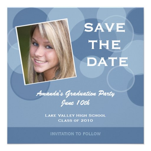 Photo Graduation Party Save the Date Custom Announcements