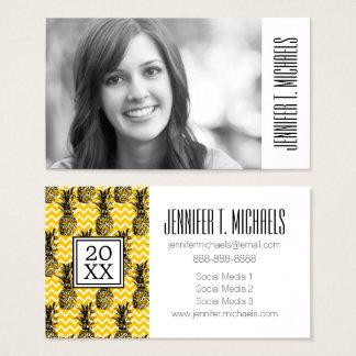 Photo Graduation | Pineapple Zigzags Business Card