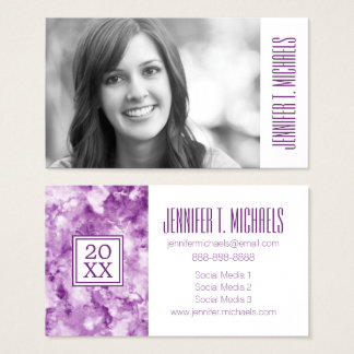 Photo Graduation | Red Marble Business Card
